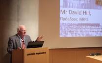 Στο βήμα ο Mr David Hill, Πρόεδρος ΙΑRPS.