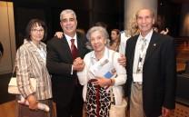 Ο Πρόεδρος του Συλλόγου των Αθηναίων κ. Ελευθέριος Σκιαδάς, ο Αντιπρόεδρος κ. Δημήτριος Τούκας με τη σύζυγό του και το μέλος του Συλλόγου κα Μαντώ Γκούσκου.