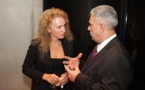 Ο Πρόεδρος του Συλλόγου των Αθηναίων κ. Ελευθέριος Σκιαδάς με την δικηγόρο κ. Ειρήνη Σταματούδη.