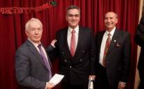 Ο κ. Νίκος Χόντος, ο ιατρός κ. Αντώνιος Παπαγεωργίου και ο Αντιπρόεδρος του Συλλόγου κ. Δημήτριος Τούκας