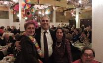 Ο Πρόεδρος του Συλλόγου των Αθηναίων με τις κυρίες Φωτεινή Δρακάκη και Αλίκη Φουγιαξή
