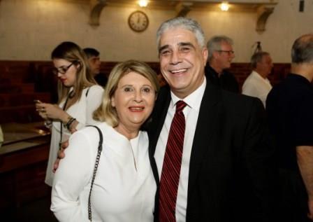 Ο Πρόεδρος του Συλλόγου Αθηναίων με την κ. Σοφία Βούλτεψη Βουλετή Β Αθηνών της Ν. Δ.