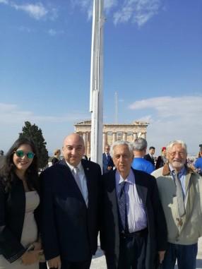 Ο Αντιπρόεδρος κ. Αγγελής Παπαγγελής, ο Γεν. Γραμματέας κ. Εμμ. Καρανίκας και ο κ. Ερρίκος Στάγγελ