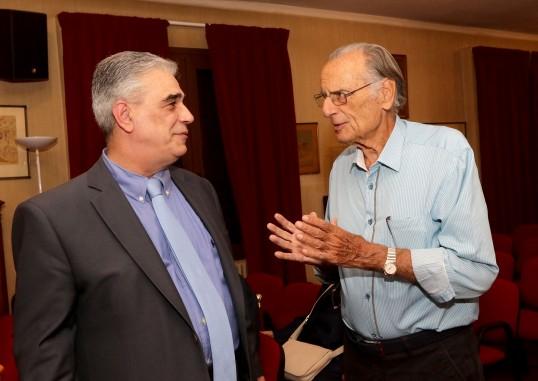 Ο Πρόεδρος του Συλλόγου κ. Ελ. Σκιαδάς με το μέλος κ. Αθανάσιο Παπαλεξανδρή