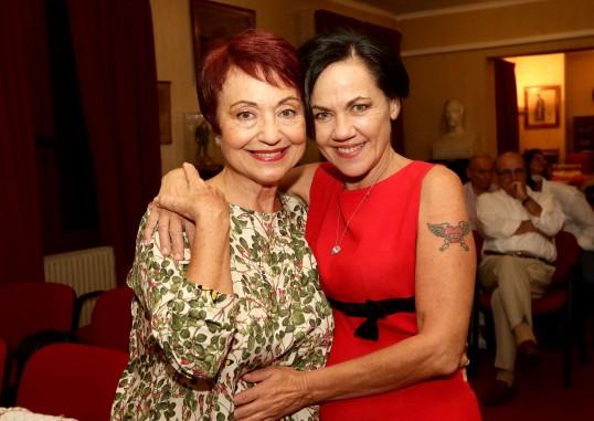 Οι κ.κ. Ζέττη Σκάρπα Κόρντισε και Ανάϊα Τριανταφυλλίδου.
