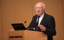 Στο βήμα ο Mr. Krister Kumlin Ambas, Chair of the Swedish Committee.