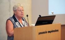 Στο βήμα η Dr Christiane Tytgat, Ιστορικός- Αρχαιολόγος (Belgian Committee).